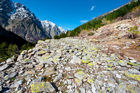 Old Stone Road in the Italian Alps photo