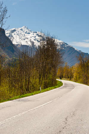 Mountainous Road in the Italian Alps photo