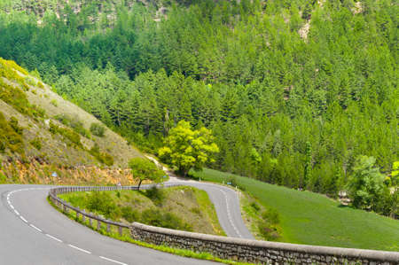 Winding Paved Road in the French Alps photo