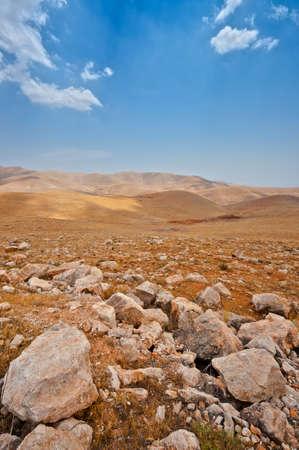 Big Stones in Sand Hills of Samaria, Israel Stock Photo - 14992824
