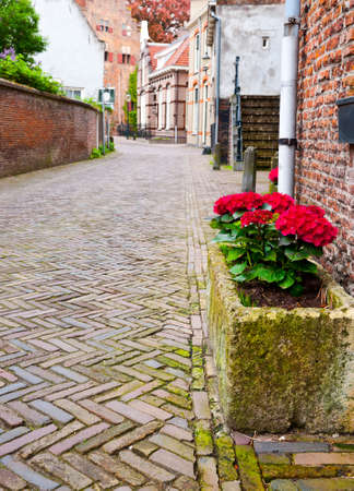 The Narrow Street in the Dutch City of Amersfoort photo