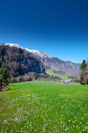 The Small Village High Up in the Swiss Alps Stock Photo - 15538593