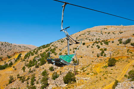 Ski Lift in the Golan Heights in the off Season photo