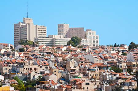 Ver a las calles antiguas y modernas de Jerusalén Foto de archivo - 15933971