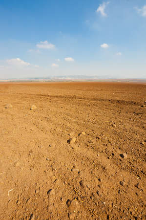 Poor Plowed Soil after the Harvest in Israel Stock Photo - 16303203