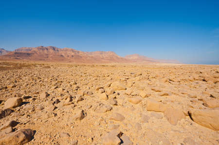 View to the Dead Sea from the Judean Desert