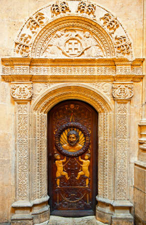 Door of The Cathedral in Burgos, Spain photo