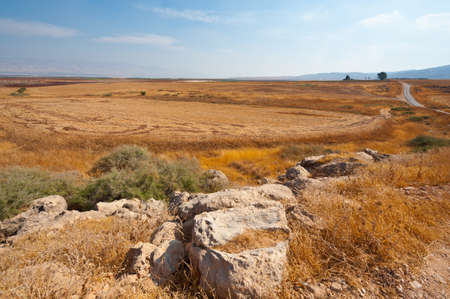 Poor Stony Soil after the Harvest in Israel Stock Photo - 16508464