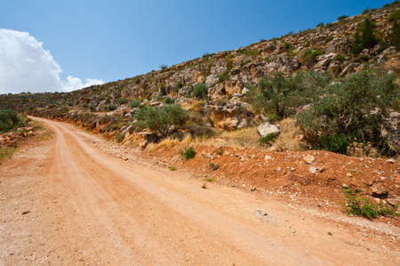Dirt Road on the Slopes of the Mountains of Samaria, Israel Stock Photo - 16689217