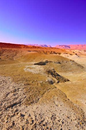 Sandy Hills of Judean Desert, Sunrise Stock Photo - 16689215