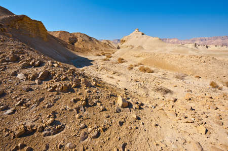 Canyon in the Judean Desert on the West Bank of the Jordan River Stock Photo - 16689229