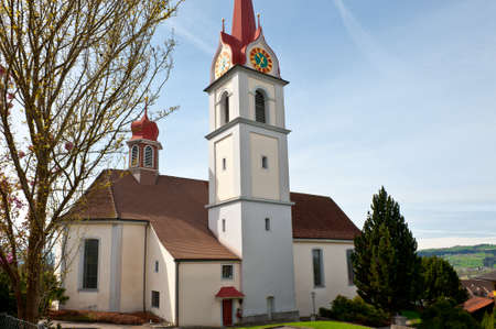 The Church High Up in the Swiss Alps Stock Photo - 16729753