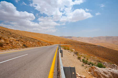 Meandering Road in Sand Hills of Samaria, Israel Stock Photo - 16729755
