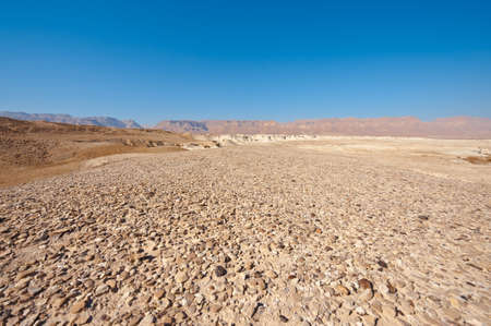 Judean Desert on the West Bank of the Jordan River Stock Photo - 16857289