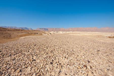 Judean Desert on the West Bank of the Jordan River Stock Photo - 16857289