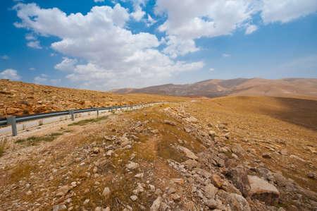 samaria: Meandering Road in Sand Hills of Samaria, Israel