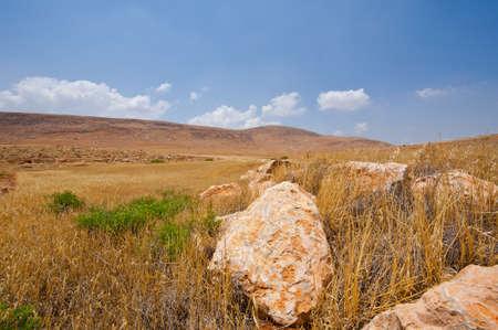 Big Stones in Sand Hills of Samaria, Israel Stock Photo - 16857974