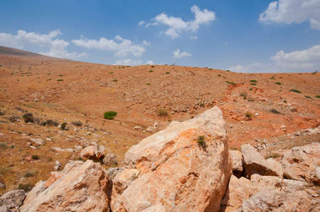 Big Stones in Sand Hills of Samaria, Israel photo