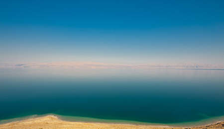 View to the Dead Sea from the Judean Mountains photo