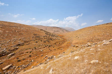 Mountainous Terrain in the West Bank, Israel photo