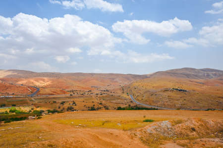 Meandering Road in Sand Hills of Samaria, Israel photo