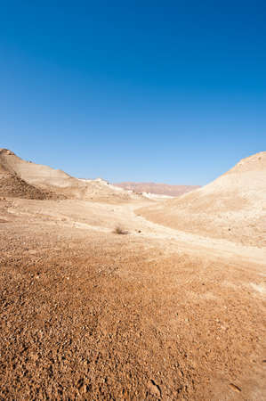 nature reserves of israel: Canyon in the Judean Desert  Stock Photo