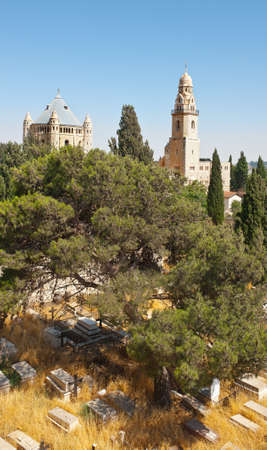 Church of  Dormition and Armenian Cemetery on Mount Zion, Jerusalem photo