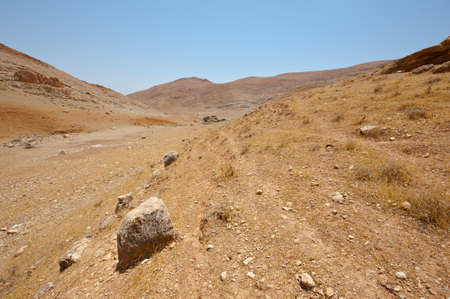 Big Stones in Sand Hills of Samaria, Israel Stock Photo - 16857584