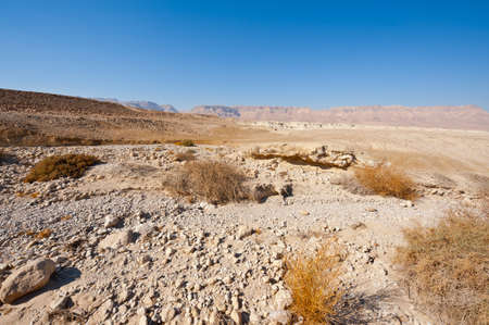 Judean Desert on the West Bank of the Jordan River Stock Photo - 16990590