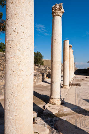 Ruins of Ancient Bet Shean which Collapsed during Earthquake Stock Photo - 16990400