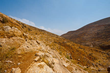 Mountainous Terrain in the West Bank, Israel Stock Photo - 16990587