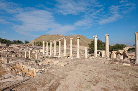 Ruins of Ancient Bet Shean which Collapsed during Earthquake Stock Photo - 16990563
