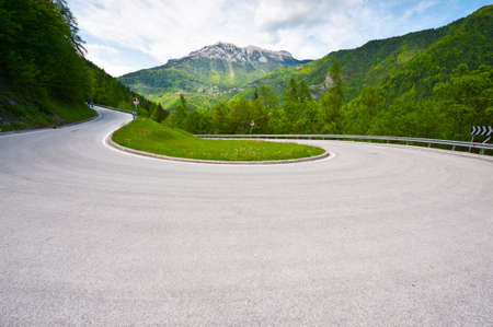 winding road: Winding Paved Road in the Italian Alps