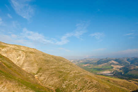 golan: Mountains on the Golan Heights, Israel Stock Photo