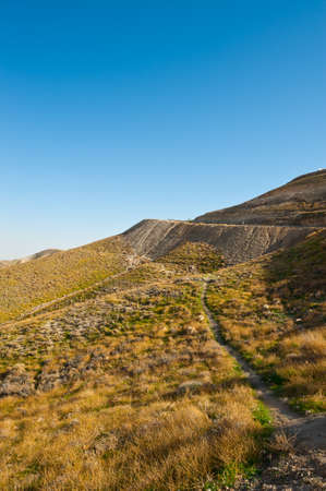 Meandering Road in the Judean Mountain, Israel Stock Photo - 17220675