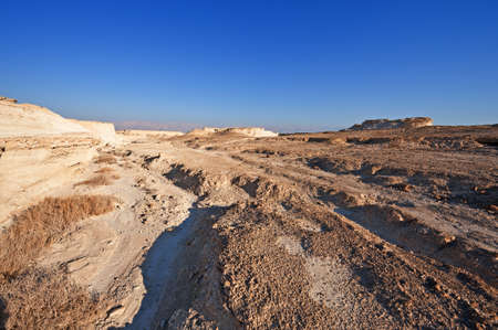 Judean Desert on the West Bank of the Jordan River photo
