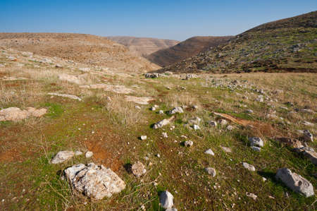 The Judean Mountains on the West Bank of the Jordan River Stock Photo - 17220819