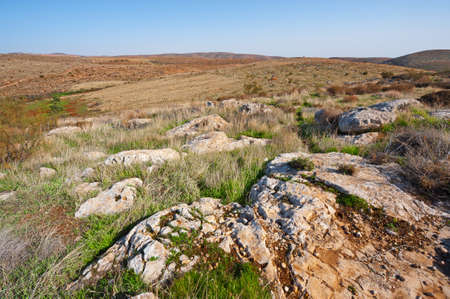 The Judean Mountains on the West Bank of the Jordan River Stock Photo - 17220813