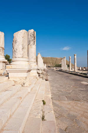 Ruins of Ancient Bet Shean which Collapsed during Earthquake   photo