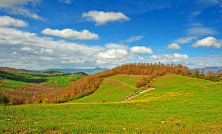 apennines: Farmhouses on the Slopes of the Apennines, Italy