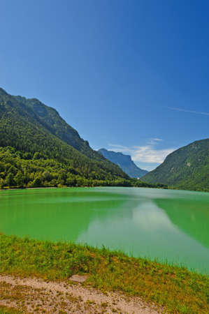 Lake Saalachsee in the Bavarian Alps photo