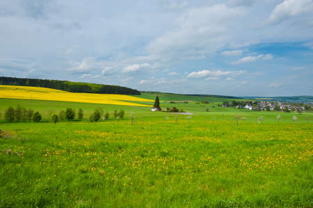 The German Village Surrounded By Pasture photo