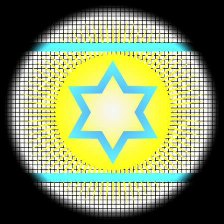 Magen David Icon on Checkered Background photo