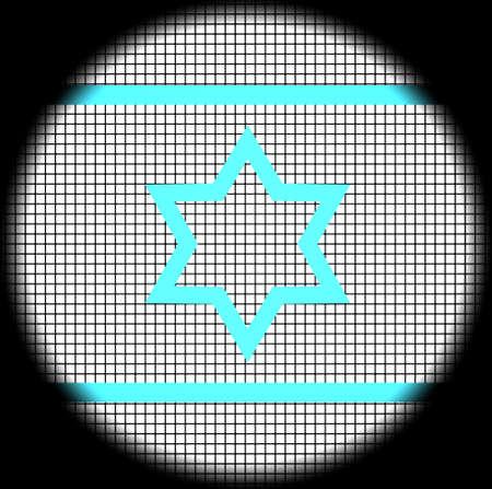magen: Magen David Icon on Checkered Background