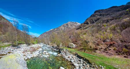 Mountain Stream in the Italian Alps, Piedmont Stock Photo - 18543588
