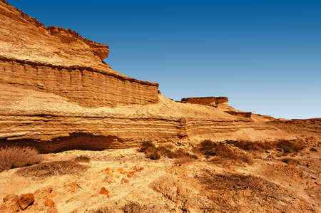 nature reserves of israel: Canyon in the Judean Desert on the West Bank  Stock Photo