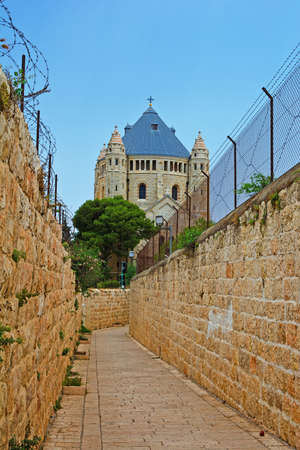 Church of Dormition on Mount Zion in Jerusalem, Israel photo