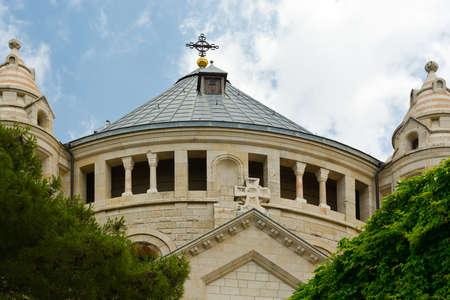Iglesia de la Dormición en el Monte Sión en Jerusalén Foto de archivo - 20239499