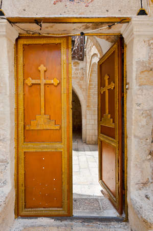 Detail of the Facade in Armenian Quarter of Jerusalem photo