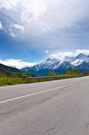 saint bernard: Saint Bernard Pass in the Italian Alps Stock Photo